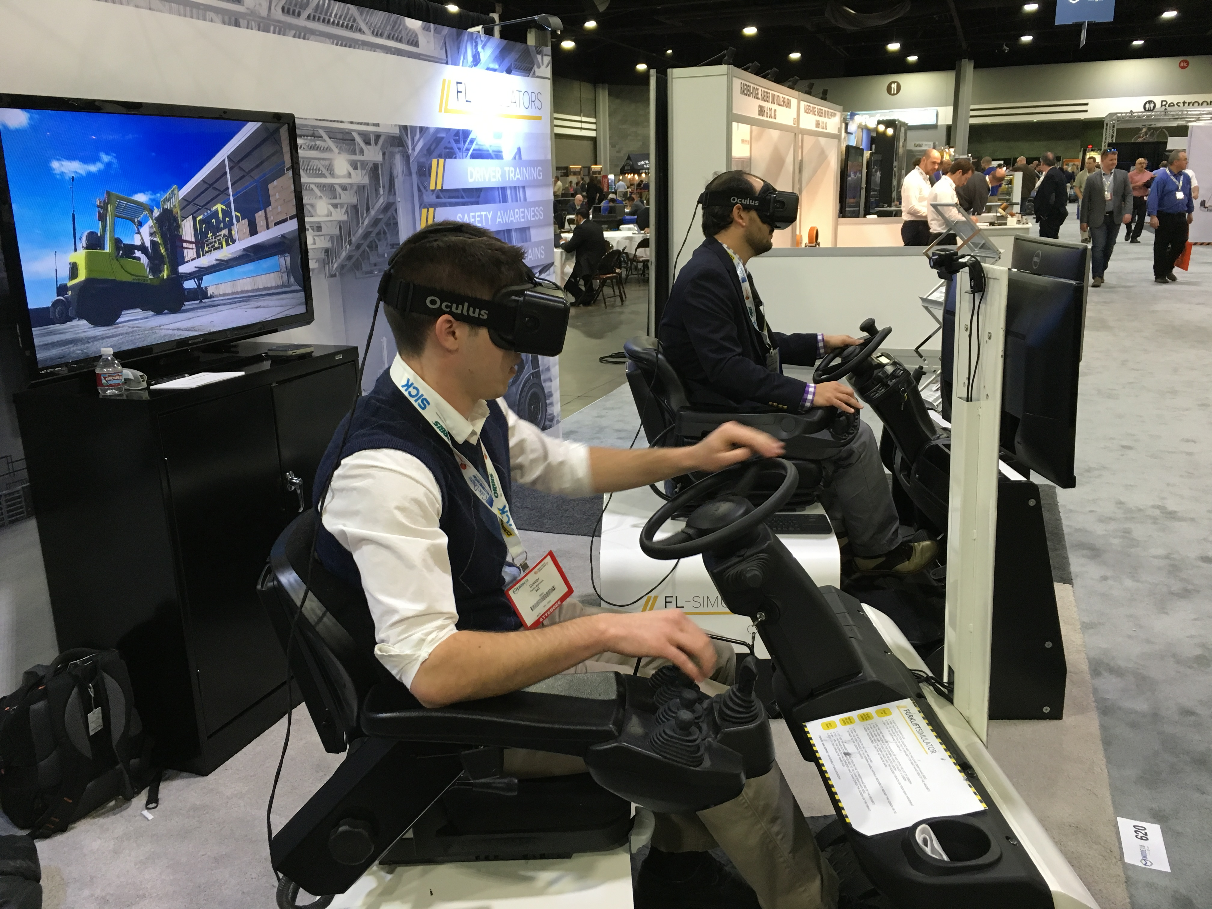 Forklift Simulator Designed to Train New Employees on How to Operate a Forklift in Virtual Reality.