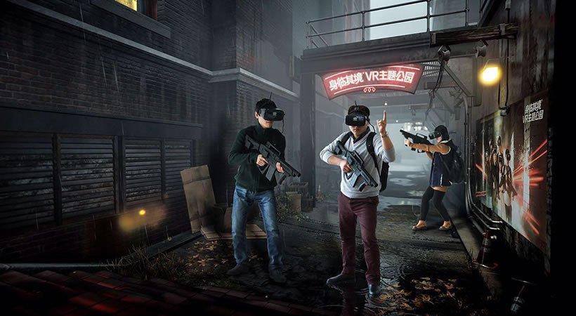 Virtual reality arcade in Japan.